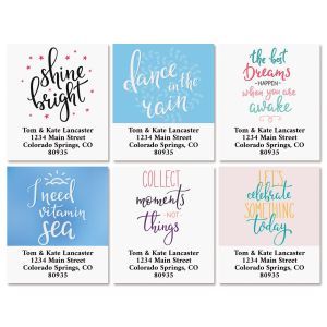 Cheerful Select Return Address Labels (6 designs)