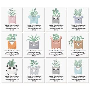Wild Planters Select Return Address Labels (12 Designs)