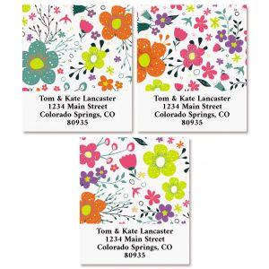 Rainbow Daisies Select Return Address Labels (3 Designs)