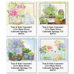 Farmhouse Flowers Select Return Address Labels (4 Designs)