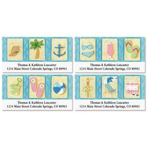 Seaside Summer Deluxe Return Address Labels (4 Designs)