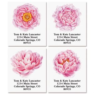 Peonies Select Return Address Labels (4 Designs)