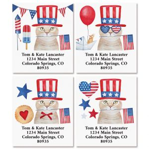 Patriotic Cats Select Return Address Labels (4 Designs)