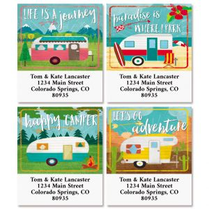 Happy Camper Select Return Address Labels (4 Designs)