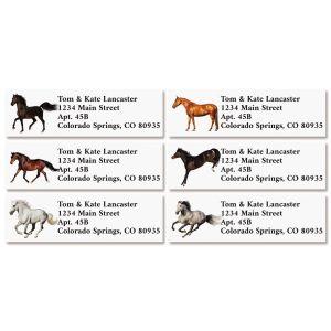 Horses Classic Return Address Labels