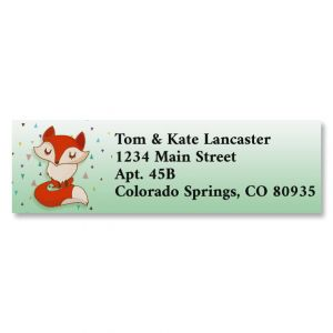 Foxy Classic Return Address Labels (6 Designs)
