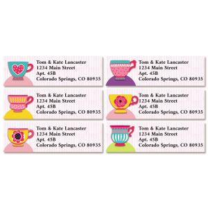 Tea Party Classic Return Address Labels (6 Designs)