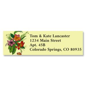 Tropical Summer Classic Return Address Labels (6 Designs)