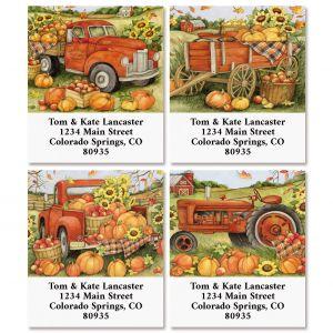 Harvest Orange Truck Select Return Address Labels (4 Designs)