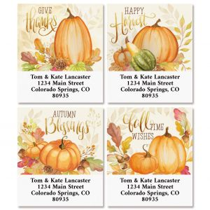 Ivory Autumn Select Return Address Labels (4 Designs)