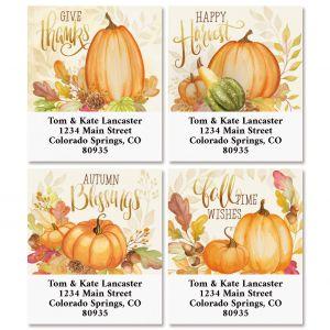 Ivory Autumn Select Return Address Labels (4 Designs)