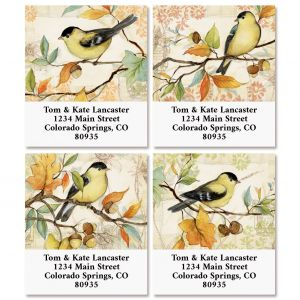 Goldfinch Select Return Address Labels (4 Designs)