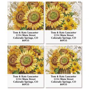 Sunflower Bouquet Select Return Address Labels (4 Designs)