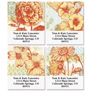 Garden Party Select Return Address Labels (4 Designs)
