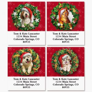 Pet Wreaths Select Return Address Labels (4 Designs)