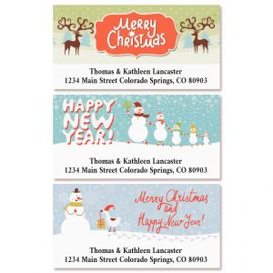 Winter Play Deluxe Return Address Labels (3 Designs)