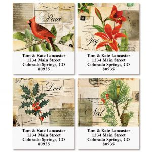 Vintage Holiday Select Return Address Labels (4 Designs)