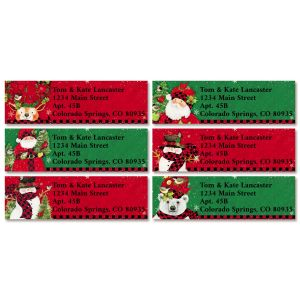 Tall Hat Christmas Classic Return Address Labels (6 Designs)