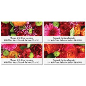 Spring Bouquet Deluxe Return Address Labels (8 Designs)