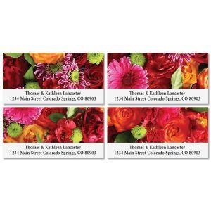Spring Bouquet Deluxe Return Address Labels (4 Designs)