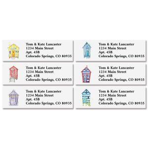 Beach Hut Classic Return Address Labels (6 Designs)