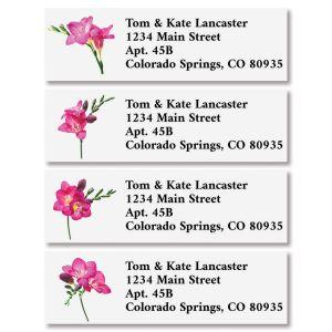 Pink Petals Classic Return Address Labels (4 Designs)