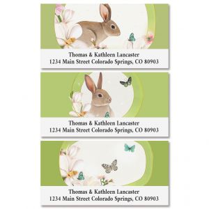Garden Wings Deluxe Return Address Labels