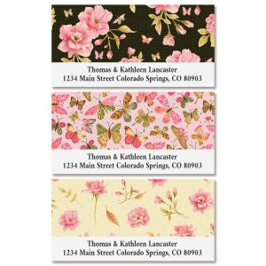 Wild Roses Deluxe Return Address Labels (3 Designs)