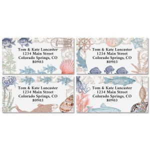 Under the Sea Border Return Address Labels (4 Designs)