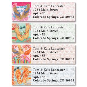 Beach Breezes Classic Return Address Labels (4 Designs)
