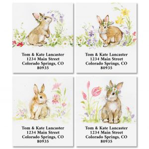 Brown Bunny Select Return Address Labels (4 Designs)