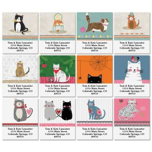 Cat Year Select Return Address Labels (12 Designs)