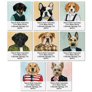 Dog Portraits Select Return Address Labels (8 Designs)