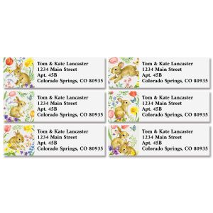 Bunny & Blossoms Classic Return Address Labels (6 Designs)