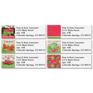 Wild Watermelon Classic Return Address Labels (6 Designs)