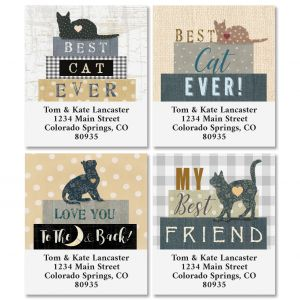 Best Cat Select Return Address Labels (4 Designs)