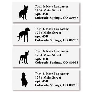 Dog Buddies Classic Return Address Labels (4 Designs)