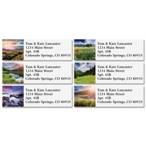 Summer Landscapes Classic Return Address Labels (6 Designs)