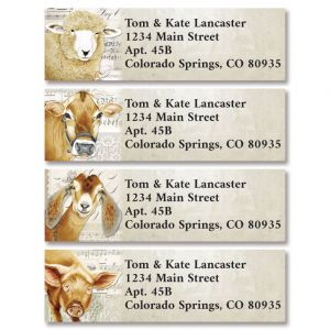 Friendly Farm Classic Return Address Labels (4 Designs)