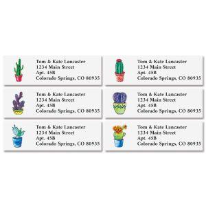 Cacti Classic Return Address Labels (6 Designs)