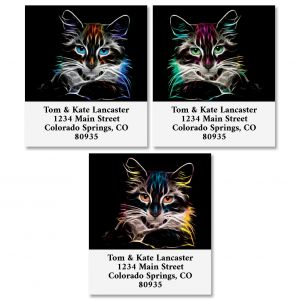 Fancy Cat Select Return Address Labels (3 Designs)