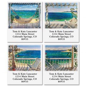 Beach Scenes Select Return Address Labels (6 Designs)