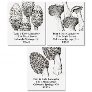 Mushrooms Select Return Address Labels (3 Designs)