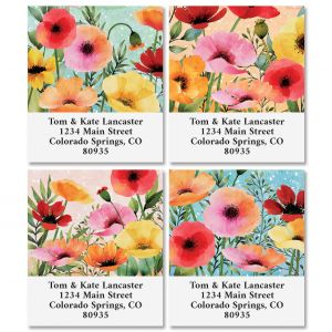 Summer Poppies Select Return Address Labels (4 Designs)