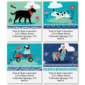 Dog Treats Select Return Address Labels (4 Designs)