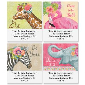 Pink Jungle Select Return Address Labels (4 Designs)