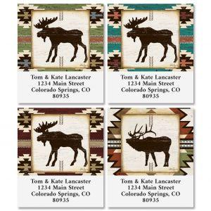 Rustic Lodge Select Return Address Labels (4 Designs)
