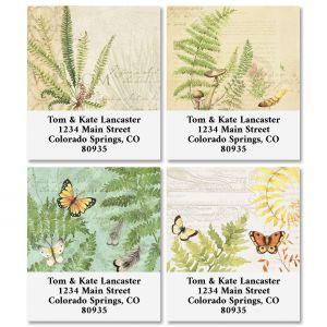 Ferns Select Return Address Labels (4 Designs)