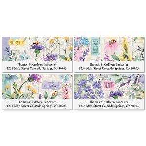 Wildflower Sanctuary Deluxe Return Address Labels (4 Designs)