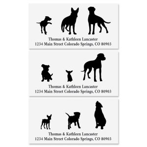 Dog Buddies Deluxe Return Address Labels